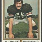 Cincinnati Bengals Bill Bergey 1974 Topps Football Card 447 ex/em