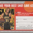 Indiana Pacers Reggie Miller 1999 Slam Magazine Advertising Coupon