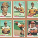 1978 Topps Houston Astros Team Lot 20 diff Cesar Cedeno Jose Cruz JR Richard Joaquin Andujar