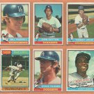 1976 Topps Los Angeles Dodgers Team Lot 19 diff Don Sutton Bill Russell Steve Yeager Manny Mota