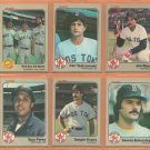 1983 Fleer Boston Red Sox Team Lot Wade Boggs Rookie Carl Yastrzemski Jim Rice Tony Perez Eckersley