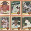 1983 Donruss Boston Red Sox Team Lot Wade Boggs Rookie Carl Yastrzemski Jim Rice Dwight Evans Perez