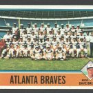 Atlanta Braves Team Card 1976 Topps 631 nr mt