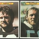 Pittsburgh Steelers Jack Lambert 25 Jack Ham 19 1980 Topps Super White Back Variations