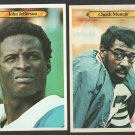 San Diego Chargers 21 Chuck Muncie 18 John Jefferson 1980 Topps Super White Back Variation
