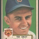 Detroit Tigers Ted Gray 1952 Topps Baseball Card 86 vg+
