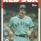 Boston Red Sox Wade Boggs 1986 Topps Wax Box Bottom Card # B
