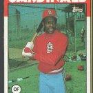 St Louis Cardinals Vince Coleman 1986 Topps Box Bottom Card # D