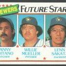 Milwaukee Brewers Future Stars 1980 Topps Baseball Card 668 nr mt