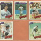 1980 Topps Boston Red Sox Team Lot 14 diff Fred Lynn Butch Hobson Mike Torrez Bob Watson