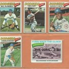 1977 Topps Los Angeles Dodgers Team Lot 11 diff Ron Cey Bill Russell Maury Wills Manny Mota +