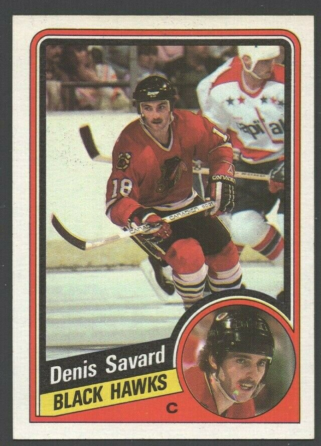 Chicago BlackHawks Denis Savard 1984 Topps Hockey Card 35 nr mt