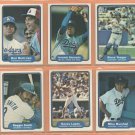 1982 Fleer Los Angeles Dodgers Team Lot 15 diff Fernando Valenzuela Mike Bob Welch Dave Lopes
