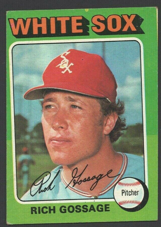 Chicago White Sox Rich Gossage 1975 Topps Baseball Card 554 ex