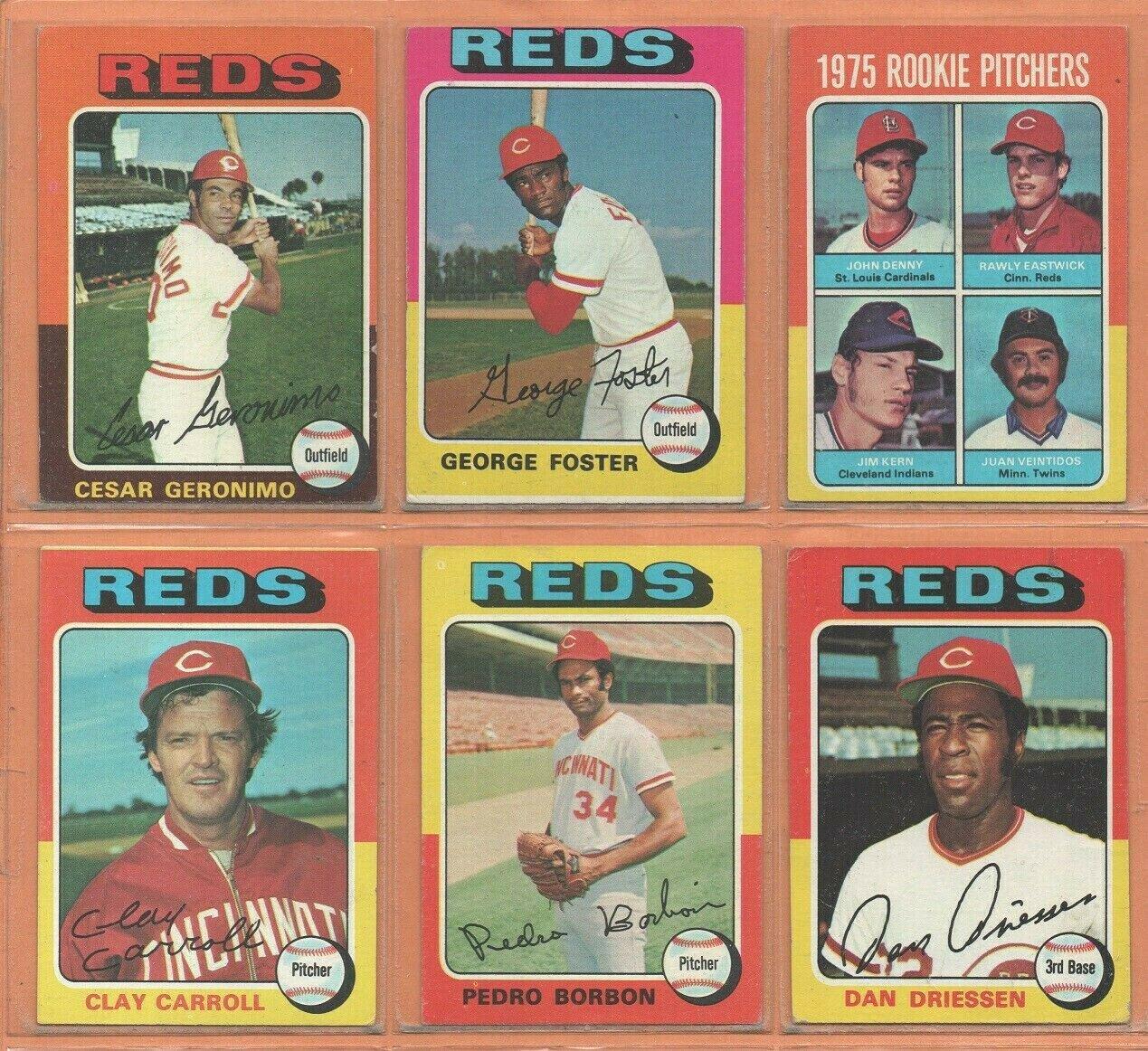 1975 1976 1977 Topps Cincinnati Reds Team Lot 22 diff Pete Rose George Foster Rawley Eastwick RC