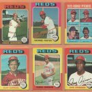1975 1976 1977 Topps Cincinnati Reds Team Lot 22 diff Pete Rose George Foster Rawley Eastwick RC
