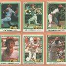 1981 1982 Donruss Cincinnati Reds Team Lot 12 Johnny Bench Tom Seaver George Foster Ken Griffey