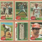 1981 Topps Cincinnati Reds Team Lot 23 diff Tom Seaver Dave Concepcion Ray Knight Dave Collins