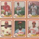 1981 Fleer Cincinnati Reds Team Lot 25 diff Tom Seaver Johnny Bench George Foster Ken Griffey