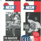 1996 Boston Red Sox Mo Vaughn Tim Wakefield NESN Ad Brochures Schedule