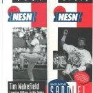 1996 Boston Red Sox Mo Vaughn Tim Wakefield NESN Ad Brochures Schedule