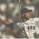 Boston Red Sox Roger Clemens in Mid-Pitch 1988 Pinup Photo