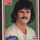 Boston Red Sox Dennis Eckersley 1981 Topps Coca Cola Coke Baseball Card # 2 good