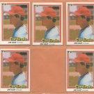 1981 1982 Donruss St Louis Cardinals Lot Jim Kaat Leon Durham RC Ken Oberkfell +