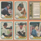1981 Fleer New York Yankees Team Lot C NETTLES Reggie Jackson Lou Piniella Rich Gossage Ron Guidry