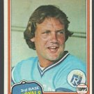 Kansas City Royals George Brett 1981 Topps Baseball Card 700 ex
