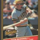 Pittsburgh Pirates Rick Rhoden 1986 Donruss Highlights 20 Pitcher of the Month