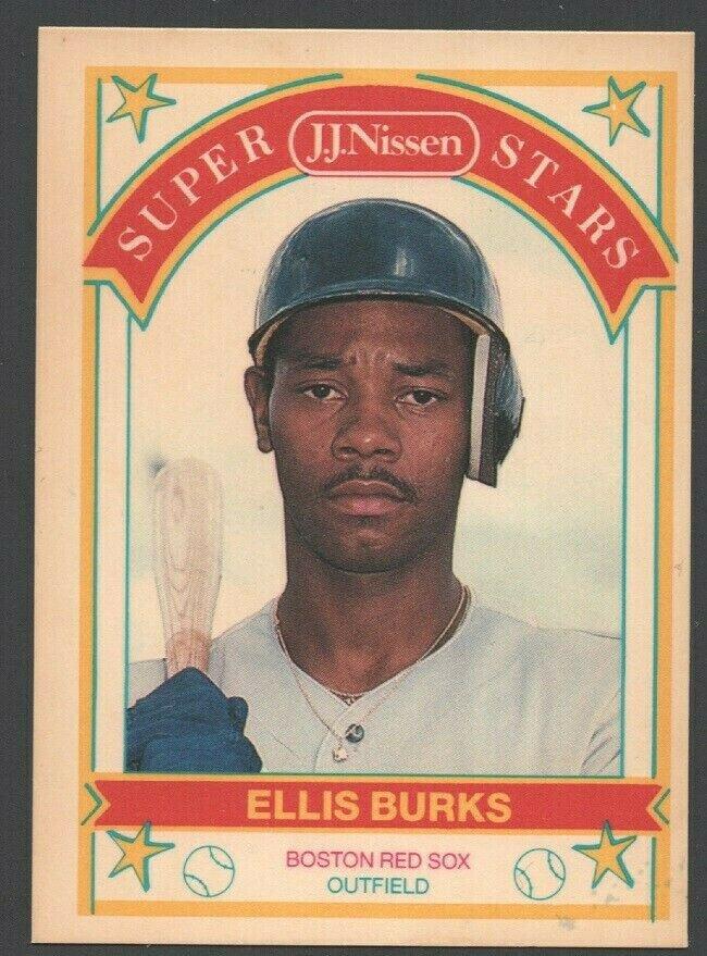 Boston Red Sox Ellis Burks 1989 Nissen Baseball Card #3 nm