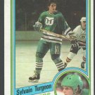 Hartford Whalers Sylvain Turgeon Rookie Card RC 1984 Topps Hockey Card 62 nr mt