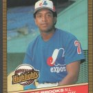 Montreal Expos Hubie Brooks 1986 Donruss Highlights # 15 Player Of The Month nm