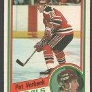 NEW JERSEY DEVILS PAT VERBEEK ROOKIE CARD RC 1984 OPC # 121 NM O PEE CHEE