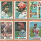 1982 Topps Cincinnati Reds Team Lot 24 Tom Seaver George Foster Dave Concepcion Ken Griffey