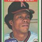 California Angels Rod Carew 1981 Topps Baseball Card 100 nr mt
