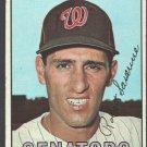 Washington Senators Bob Saverine 1967 Topps Baseball Card #27 vg+