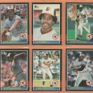 1985 Donruss Baltimor Orioles Team Lot 18 Rick Dempsey Al Bumbry Dennis Martinez John Lowenstein