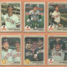 1983 Fleer Cleveland Indians Team Lot 18 Andre Thornton Mike Hargrove Ron Hassey