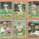 1976 Topps Pittsburgh Pirates Team Lot 18 diff Dave Parker Al Oliver Kent Tekulve RC Richie Zisk