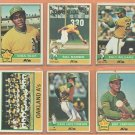 1976 Topps Oakland Athletics Team Lot 19 diff Billy Williams Sal Bando Mike Norris RC Vida Blue