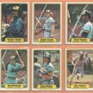 1982 Fleer Milwaukee Brewers Team Lot 24 Robin Yount Paul Molitor Cecil Cooper Ted Simmons Fingers