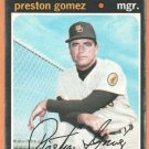 SAN DIEGO PADRES PRESTON GOMEZ 1971 TOPPS SHORT PRINT # 737 good