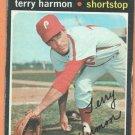 PHILADELPHIA PHILLIES TERRY HARMON 1971 TOPPS # 682 good
