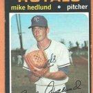 KANSAS CITY ROYALS MIKE HEDLUND 1971 TOPPS # 662 EX/EM