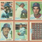 1978 Topps Chicago Cubs Team Lot 28 diff Bill Buckner Dave Kingman Willie Hernandez RC Bobby Murcer