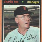 SAN FRANCISCO GIANTS CHARLIE FOX 1971 TOPPS # 517