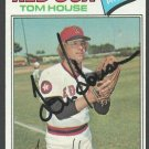 BOSTON RED SOX TOM HOUSE AUTOGRAPHED 1977 TOPPS # 358