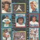 1981-82 Los Angeles Dodgers 18 diff Topps Stickers Fernando Valenzuela Steve Garvey Ron Cey Sutton +